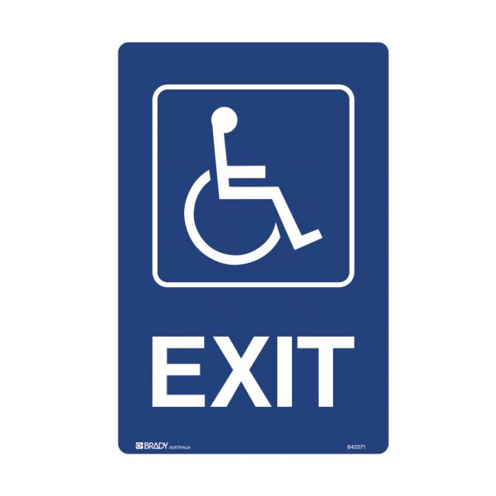 PF842272 Accessible Traffic & Parking Sign - Exit