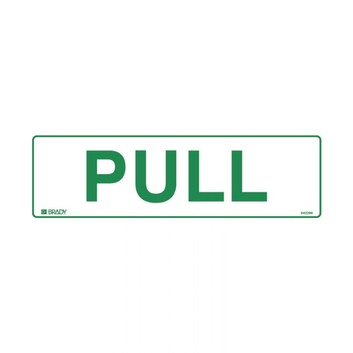 PF842296 Door Sign - Pull