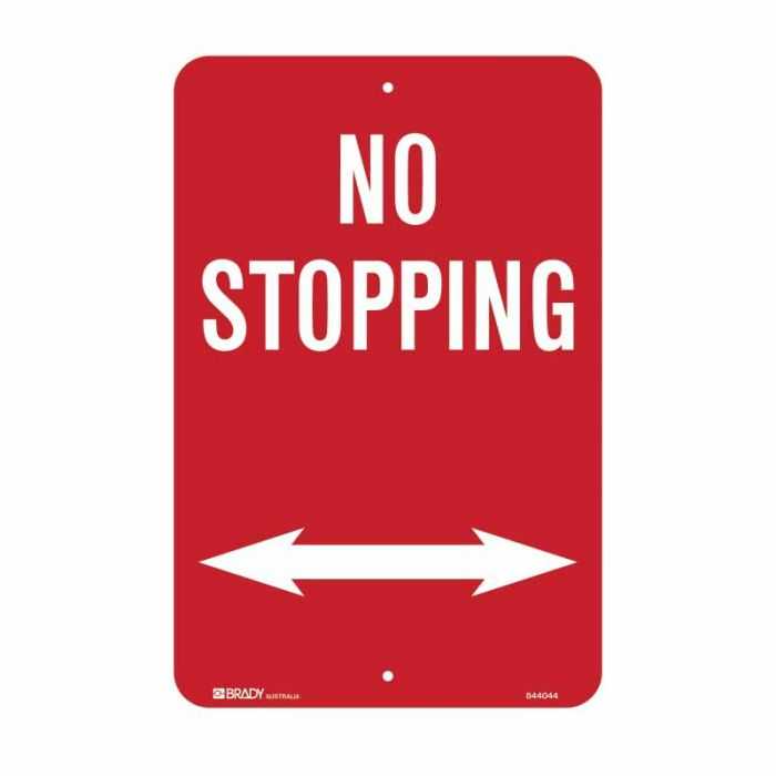 PF843025 No Standing Sign - No Stopping Arrow Both Ways