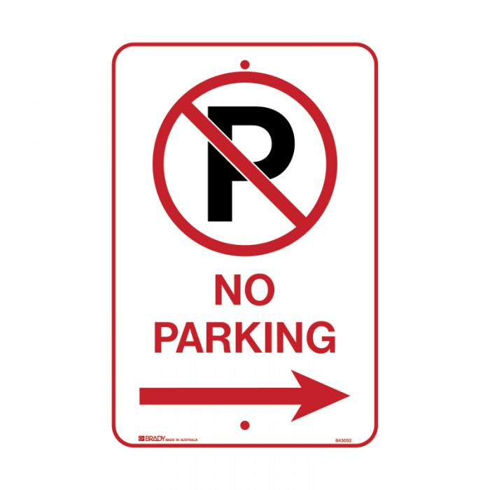 PF843052 Parking & No Parking Sign - No Parking Picto Arrow Right