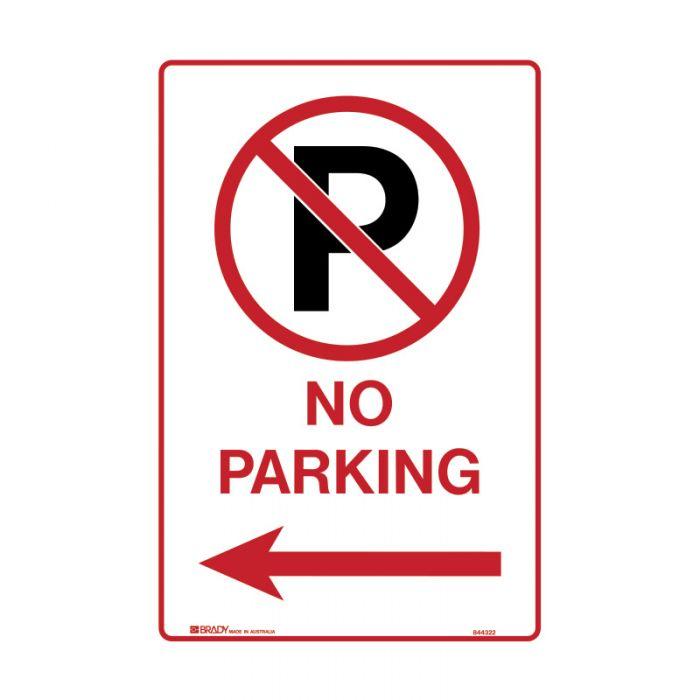 PF843198 Parking & No Parking Sign - No Parking Picto Arrow Left