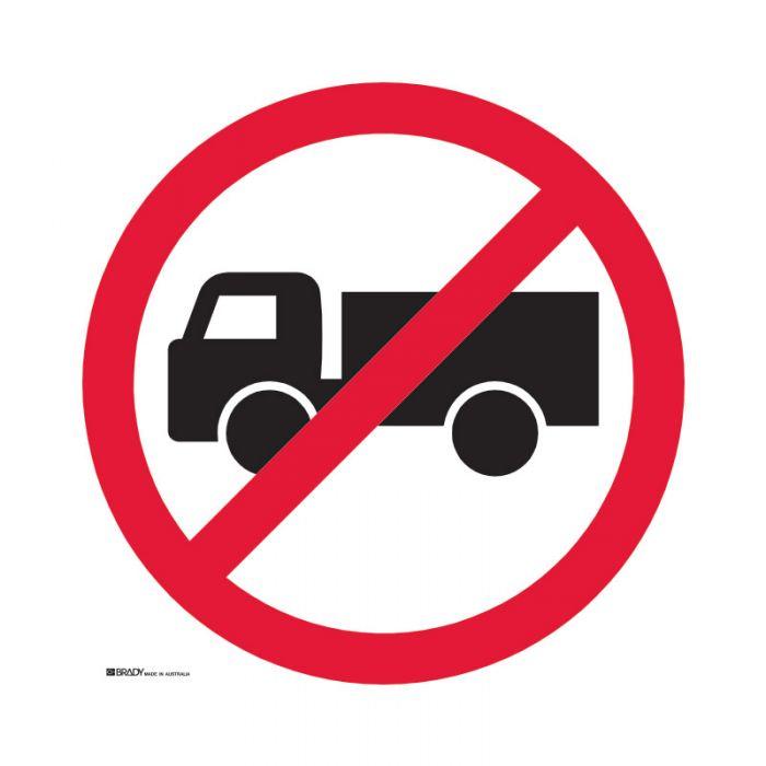 PF843369 Directional Traffic Sign - No Trucks
