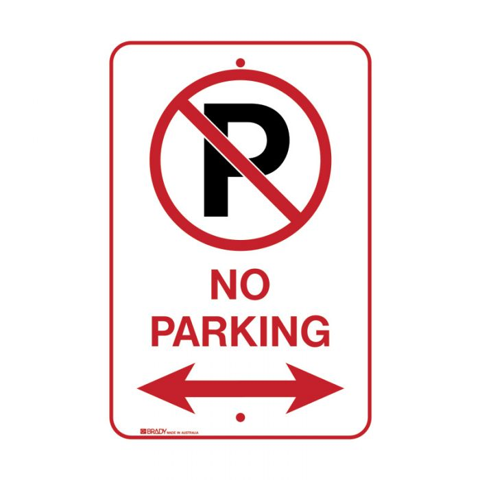 PF843376 Parking & No Parking Sign - No Parking Picto Both Directions