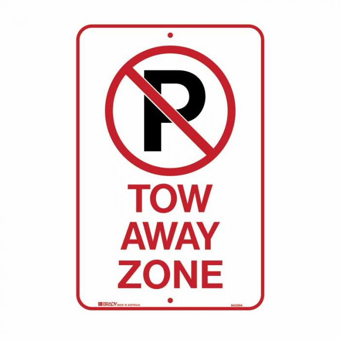 PF843594 Parking & No Parking Sign - No Parking Picto Tow Away Zone