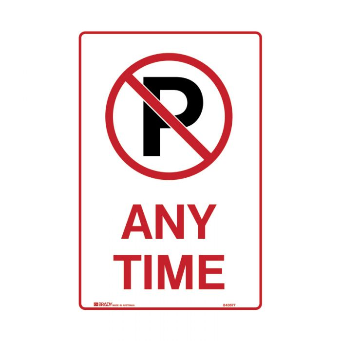 PF843677 Parking & No Parking Sign - No Parking Anytime