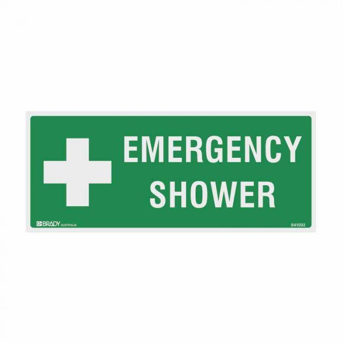 PF844215 Emergency Information Sign - Emergency Shower
