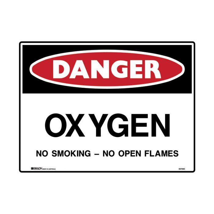PF847746 Mining Site Sign - Danger Oxygen No Smoking No Open Flames