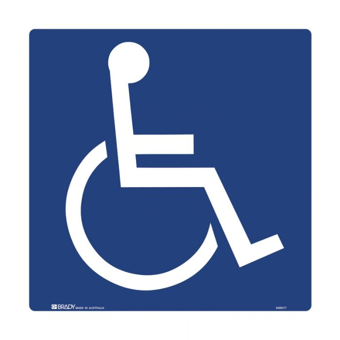 PF848017 Accessible Traffic & Parking Sign - Disabled Picto