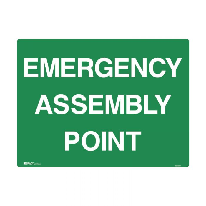 PF853535 Emergency Information Sign - Emergency Assembly Point