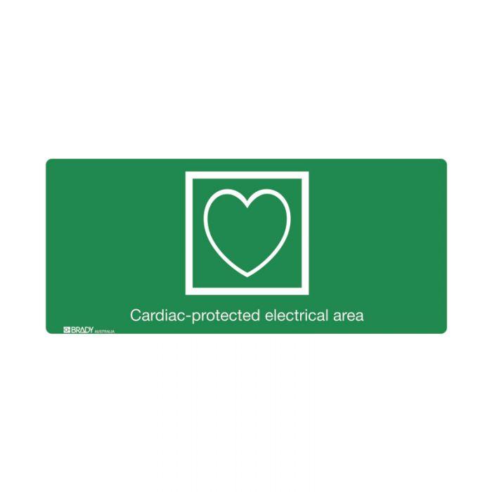 PF853676 Hospital-Nursing Home Sign - Cardiac Protected Electrical Area