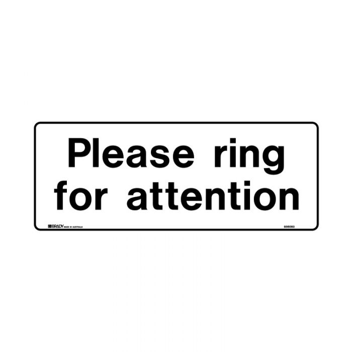 PF856082 Public Area Sign - Please Ring For Attention