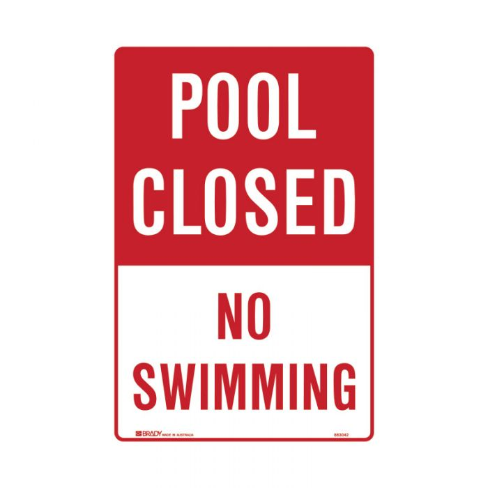 PF863041 Park Sign - Pool Closed No Swimming