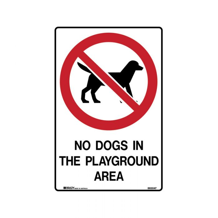 PF863048 Park Sign - No Dogs In The Playground Area