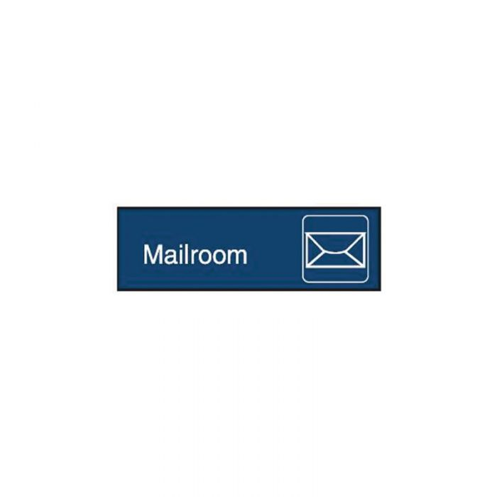 PF863086 Engraved Office Sign - Mailroom + Symbol