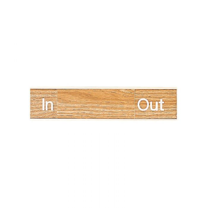 PF863163 Engraved Office Sign - In-Out