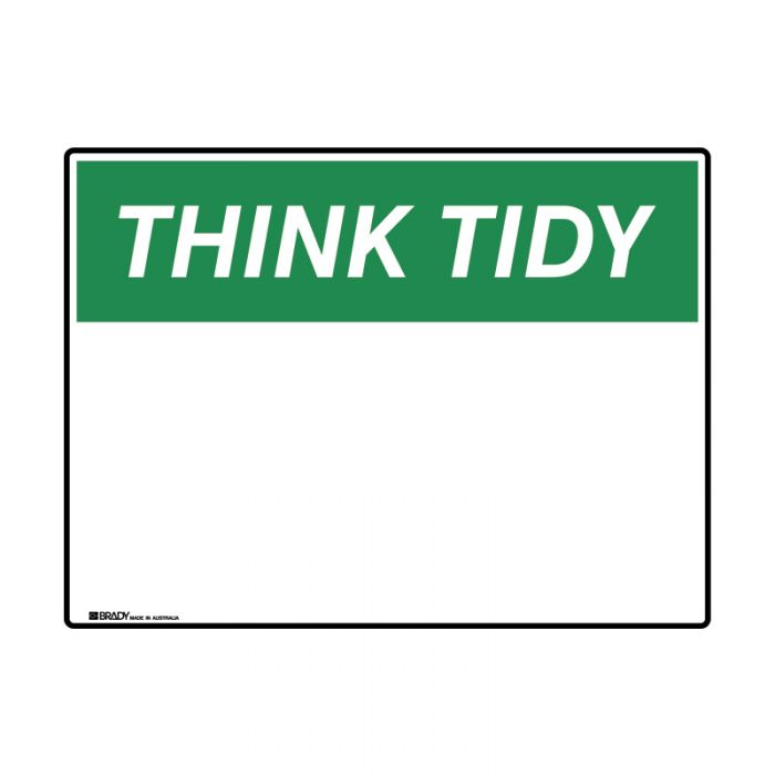 PF863527-Blank-Safety-Sign---Think-Tidy