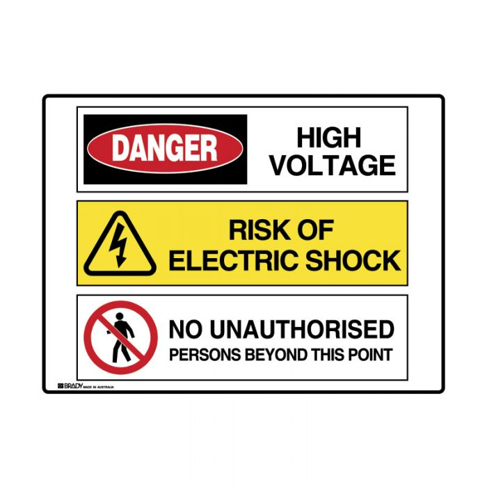 PF871506 Multiple Message Sign - Electric Shock