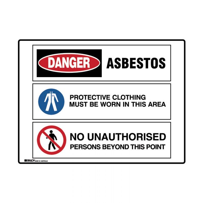 PF871518 Multiple Message Sign - Asbestos