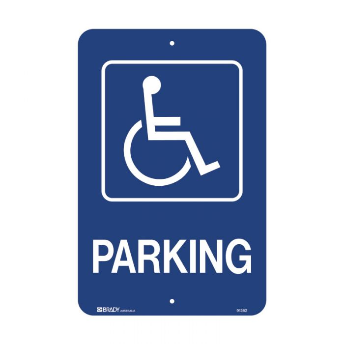 PF91362 Accessible Traffic & Parking Sign - Parking