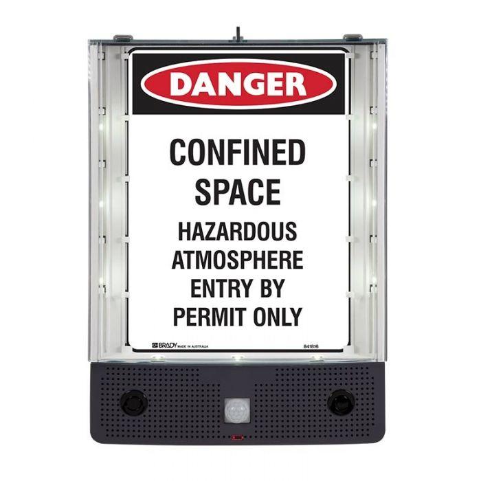 Safety Sign Alerter - Confined Space Sign